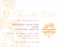 custom save-the-date cards - tangerine - poppy (set of 10)