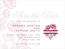 custom save-the-date cards - burgundy - poppy (set of 10)