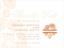 custom save-the-date cards - spice - poppy (set of 10)