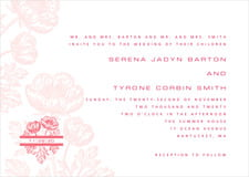 custom invitations - grapefruit - poppy (set of 10)