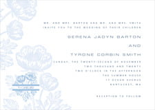 custom invitations - blue - poppy (set of 10)