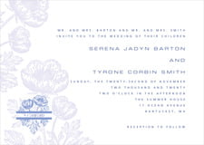 custom invitations - periwinkle - poppy (set of 10)