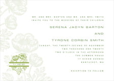custom invitations - green tea - poppy (set of 10)