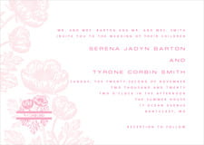 custom invitations - pale pink - poppy (set of 10)