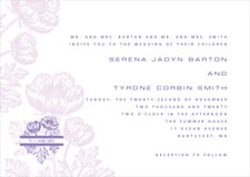 custom invitations - lilac - poppy (set of 10)