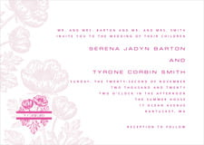 custom invitations - bright pink - poppy (set of 10)