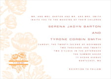 custom invitations - tangerine - poppy (set of 10)