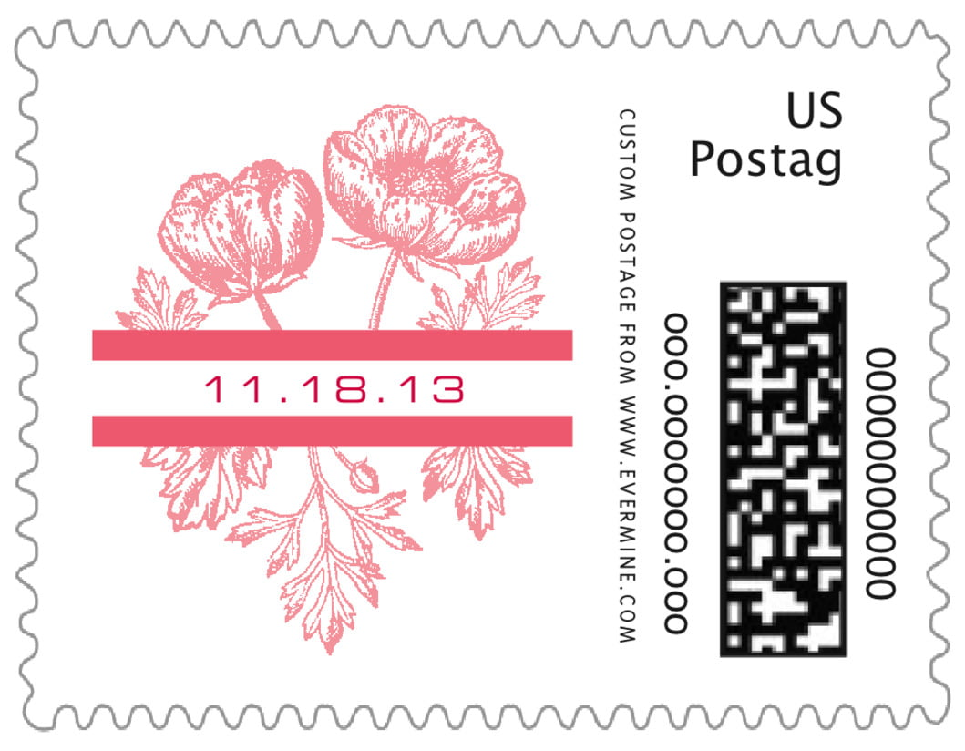 small custom postage stamps - grapefruit - poppy (set of 20)