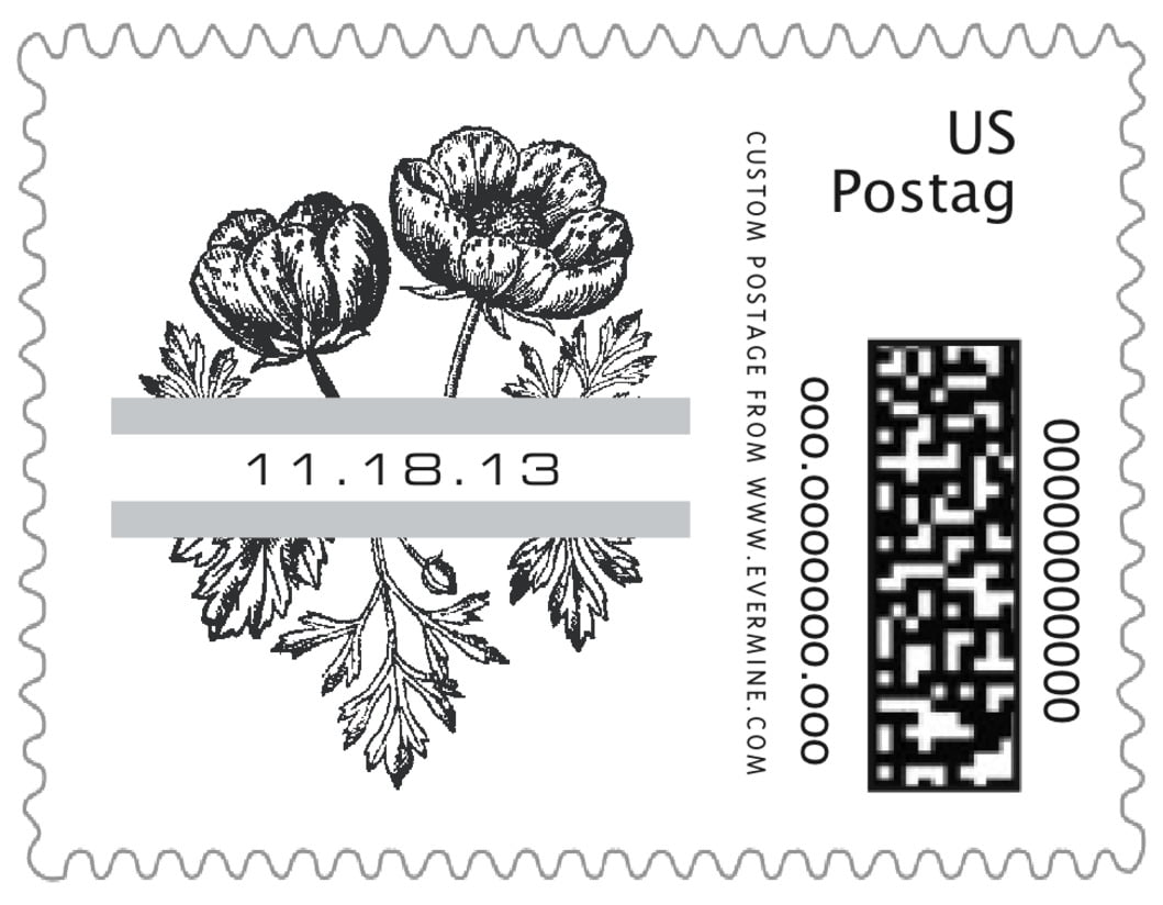 small custom postage stamps - tuxedo - poppy (set of 20)