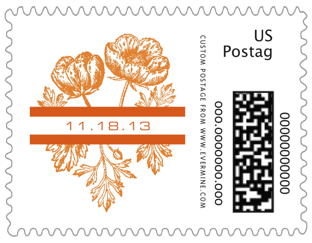small custom postage stamps - spice - poppy (set of 20)