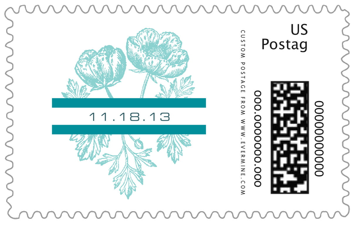 custom large postage stamps - aruba - poppy (set of 20)