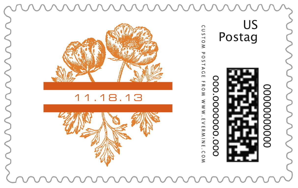 custom large postage stamps - spice - poppy (set of 20)