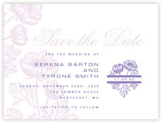 Poppy save the date cards