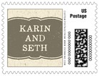 Rustic Bistro business postage stamps