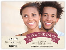 Rustic Bistro save the date cards