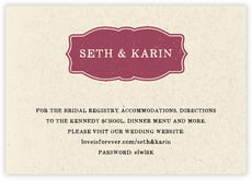 Rustic Bistro enclosure cards