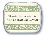 Rococo Spring bar mitzvah mint tins