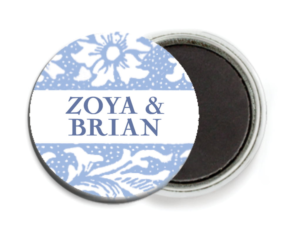 custom button magnets - periwinkle - rococo spring (set of 6)