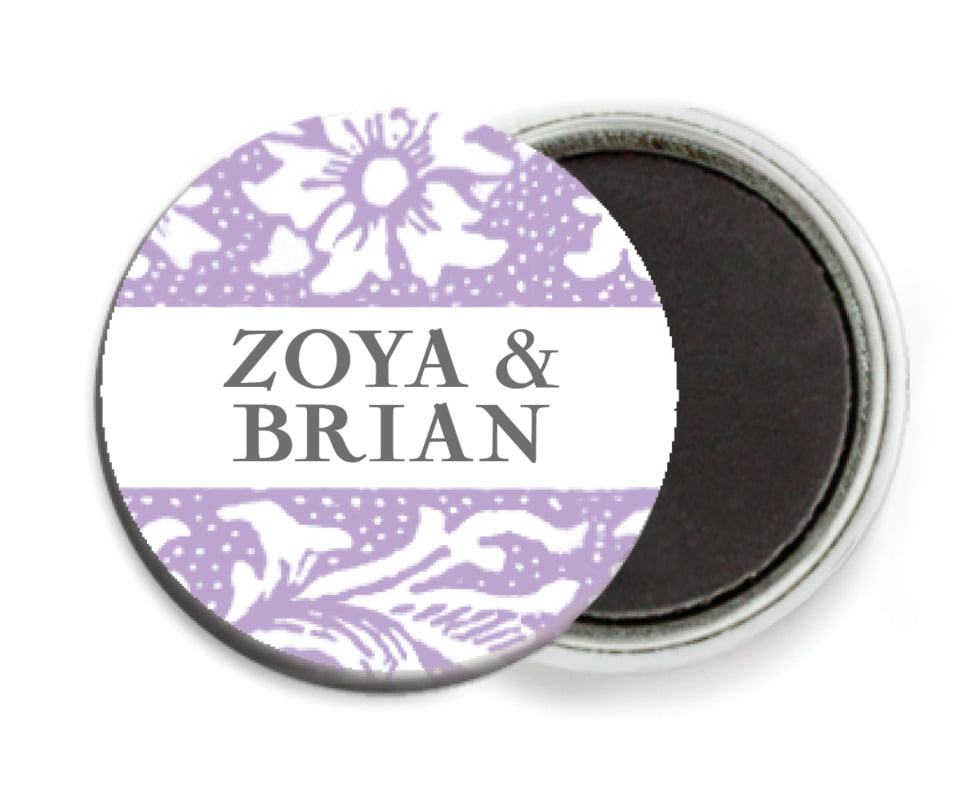 custom button magnets - lilac - rococo spring (set of 6)
