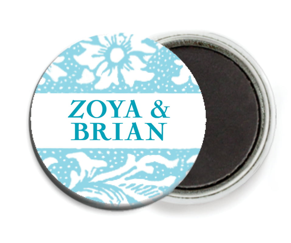 custom button magnets - bahama blue - rococo spring (set of 6)