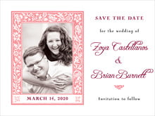 custom save-the-date cards - grapefruit - rococo spring (set of 10)