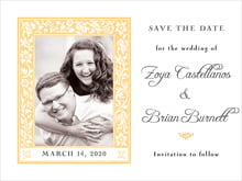 custom save-the-date cards - sunburst - rococo spring (set of 10)