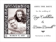 custom save-the-date cards - tuxedo - rococo spring (set of 10)