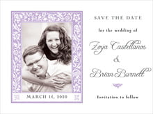 custom save-the-date cards - lilac - rococo spring (set of 10)