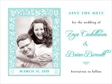 custom save-the-date cards - aruba - rococo spring (set of 10)