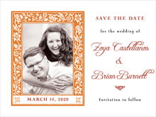 custom save-the-date cards - spice - rococo spring (set of 10)