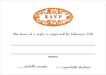 custom response cards - spice - rococo spring (set of 10)