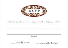 custom response cards - chocolate - rococo spring (set of 10)