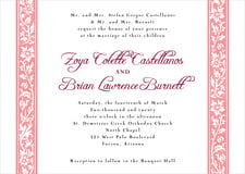 custom invitations - grapefruit - rococo spring (set of 10)