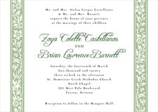 custom invitations - sage - rococo spring (set of 10)