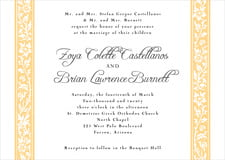 custom invitations - sunburst - rococo spring (set of 10)