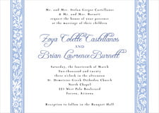 custom invitations - periwinkle - rococo spring (set of 10)