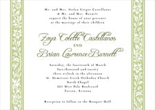 custom invitations - green tea - rococo spring (set of 10)