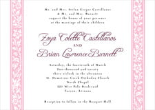custom invitations - pale pink - rococo spring (set of 10)