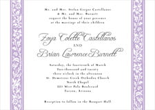 custom invitations - lilac - rococo spring (set of 10)