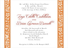 custom invitations - spice - rococo spring (set of 10)