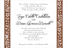 custom invitations - chocolate - rococo spring (set of 10)