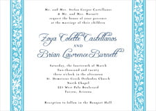 custom invitations - sky - rococo spring (set of 10)