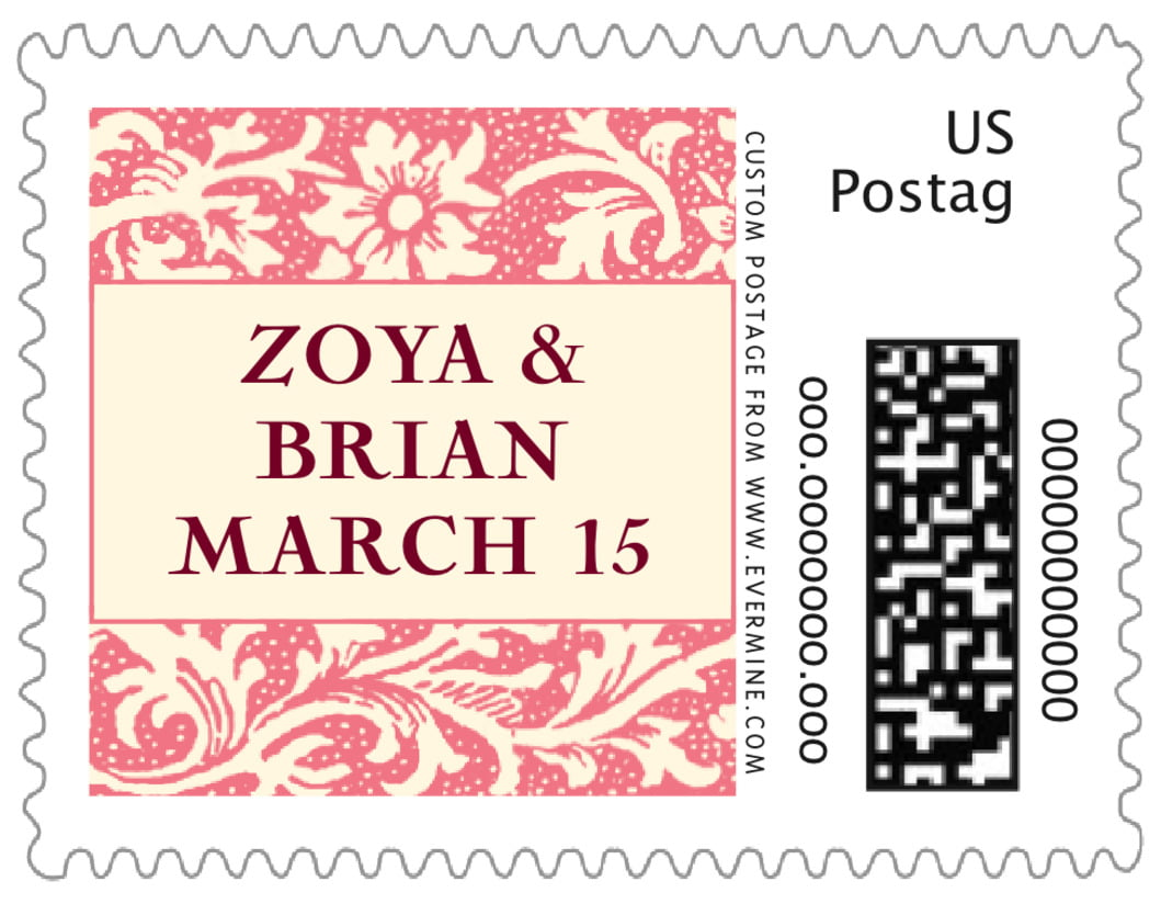 small custom postage stamps - grapefruit - rococo spring (set of 20)