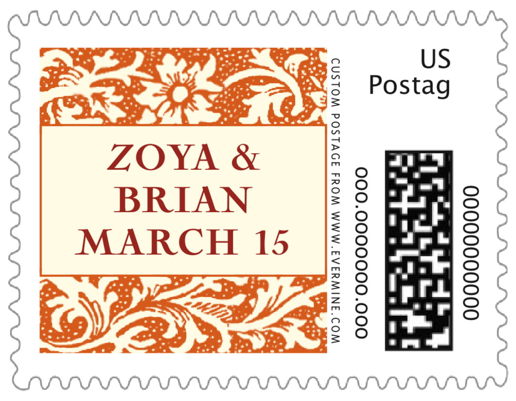 small custom postage stamps - spice - rococo spring (set of 20)