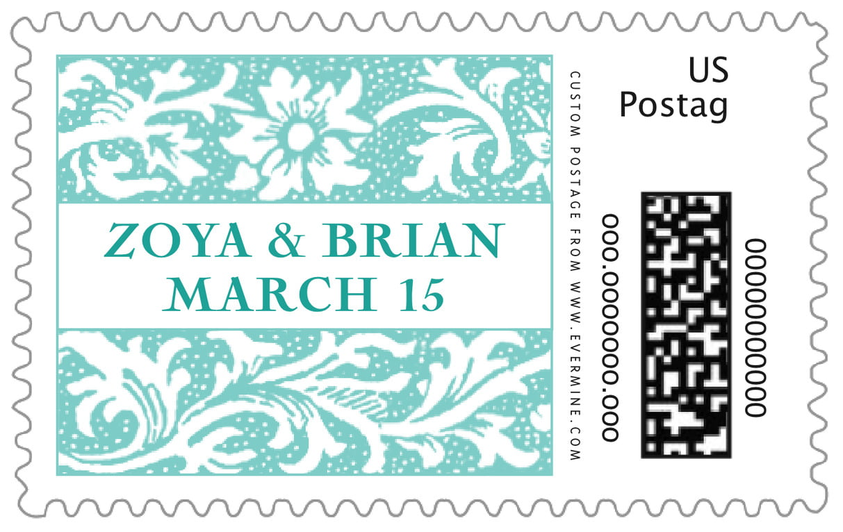 custom large postage stamps - aruba - rococo spring (set of 20)