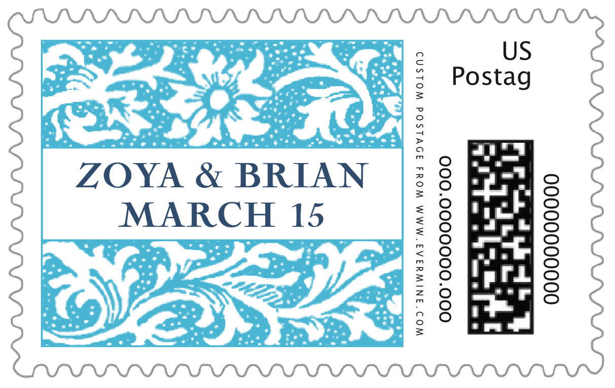 custom large postage stamps - sky - rococo spring (set of 20)
