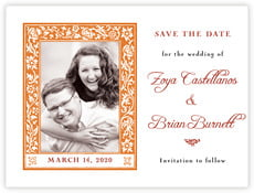 Rococo Spring save the date cards