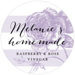 Striped Rose circle labels