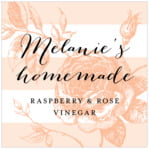 Striped Rose square labels