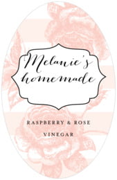 Striped Rose tall oval labels
